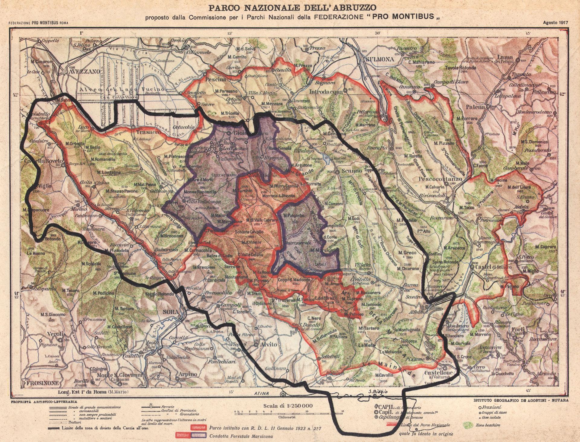 Prima proposta di Parco Nazionale - 1917
